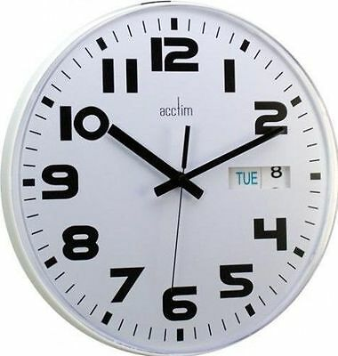 Acctim Austin Day And Date Wall Clock 12 MONTHS WARRANTY
