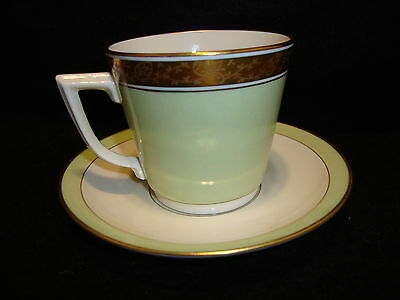 Royal Copenhagen DAGMAR CUP & SAUCER 988 9481 Light Pastel Green Denmark