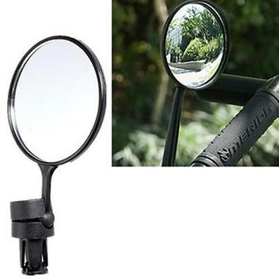 Cycling MIRROR Handlebar Bicycle Rear FLAT View Back Flexible Bike Round Glass