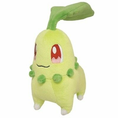 1x Genuine Sanei (PP40) Chikorita Stuffed Plush Pokemon Go All Star Collection
