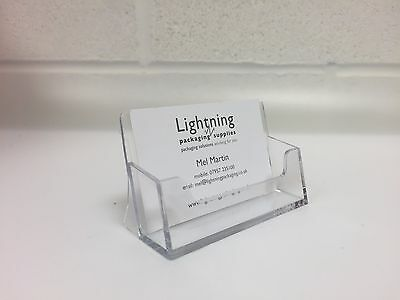 10 x Business Card Holders Acrylic Counter Dispensers Display Stands Retail