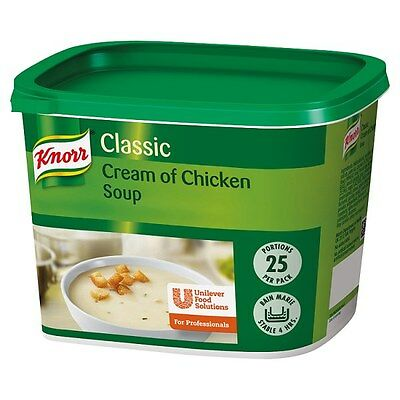 Knorr Classic Cream of Chicken Soup 25 Portions Catering Size Bulk Buy