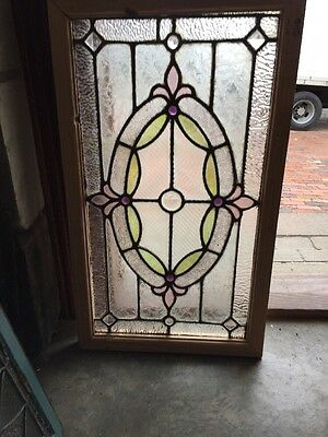 St 883 Antique Purple Jeweled Textured Glass Window