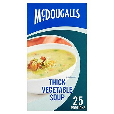 McDougalls Thick Vegetable Soup Mix 25 Portions Catering Size Bulk Buy