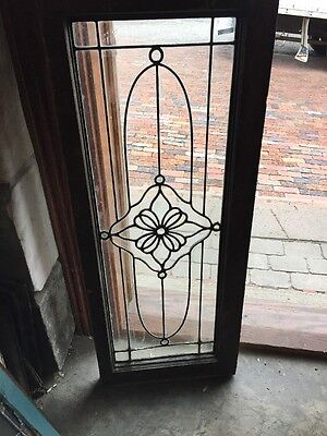 Sg 888 Antique Leaded Glass Floral Design Transom Window