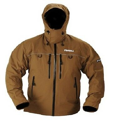 Frabill FXE Stormsuit Rain Fishing Jacket - Size XL - Color Terra Brown - NEW!