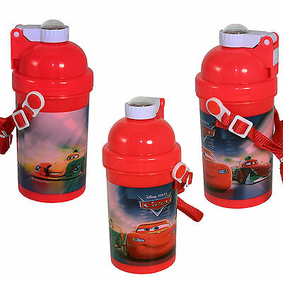 Disney  Car Pop-Up Drink / Water Bottle Ideal Birthday Gift Back to school