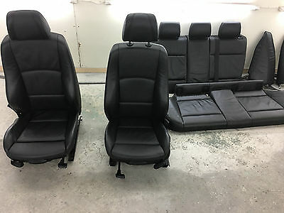 BMW 1 SERIES E87 Black Leather Interior Seats with Airbag NO CARDS