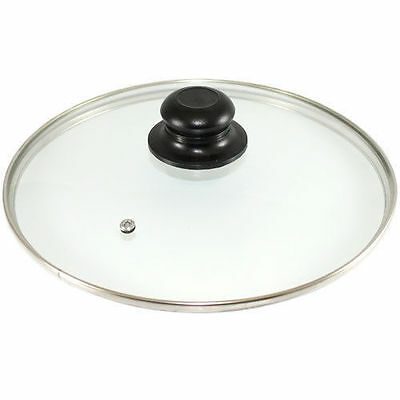 Replacement Vented Frying Fry Pan Saucepan Glass Lid Cover 28cm