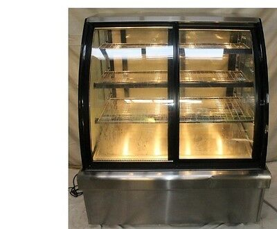 Commercial Hot Food Display. Floor Standing  Perfect Working.cracked Glass