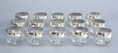 Set of 15 Mid Century Modern Dorothy Thorpe Roly Poly Glasses Antique Cup (9681)