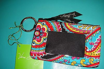 "Vera Bradley  Zip Id Case ""parsian Paisley "" Retired  Pattern!  New With Tags!"