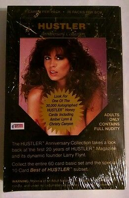 Hustler Cards (36) Packs Box Anniversary Collection 1974-1994 RARE SEALED NUDE