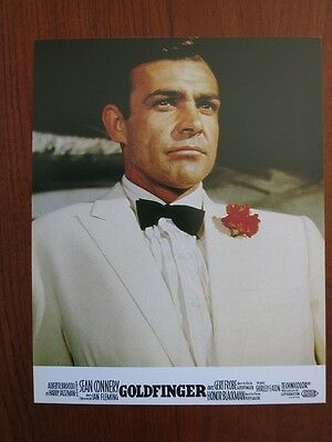 GOLDFINGER 8 Original French Lobby Cards R70s James Bond Sean Connery