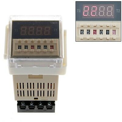 AC 220V Digital Precision Programmable Time Delay Relay DH48S-S With Socket Base