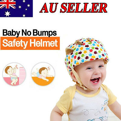 AU Stock Baby Cotton Safety Helmet Toddler Adjustable Headguard Protective Hat