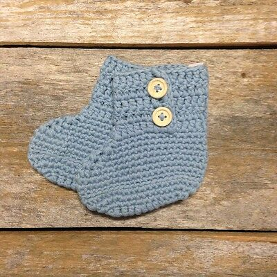 *NEW* Mizzle Crochet Boys Booties Size 6-12 Months