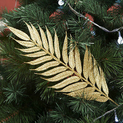 Christmas Supplies Decoration Xmas Tree Decor Hanging Golden Leaves Ornaments