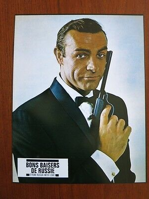 FROM RUSSIA WITH LOVE 8 Original French Lobby Cards R70s James Bond Sean Connery