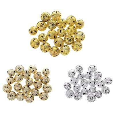 20pcs 19*22MM Gold/Silver Xtmas Jingle Bells Craft for Christmas Tree Decor