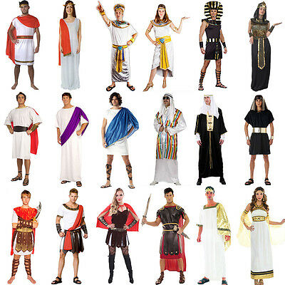 Cleopatra Egyptian King Roman Egypt Fancy Dress Adult Halloween Costume Outfit