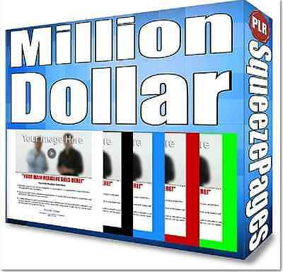 The Million Dollar Squeeze Page Template Software Internet Marketing Make Money