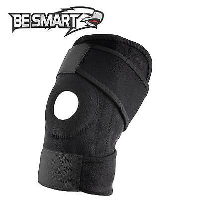Be Smart New Wrap Around Knee Brace Support Adjustable  Knee Open Pattela Brace