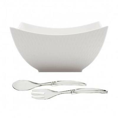 Maxwell & Williams Diamond Square Bowl 24cm with FREE Salad Server SPECIAL OFFER