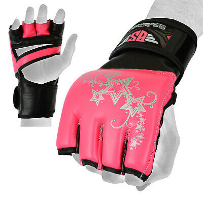 Women MMA Gloves Boxing Punch Kick boxing UFC Muay thai Training Sparring Padded