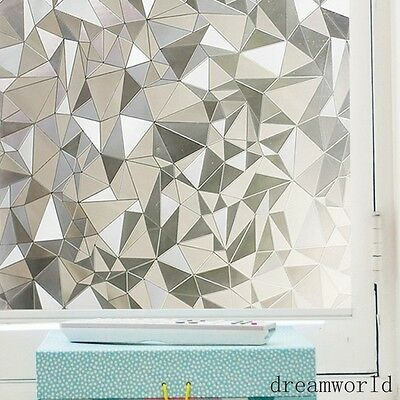 3D Geometry Non-adhesive Window Film self-adhesive stickers frosted glass film