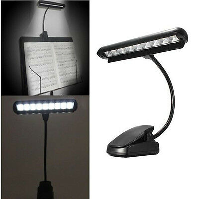 Flexible 9 LEDs Clip-On Orchestra Music Stand Piano Lamp Light