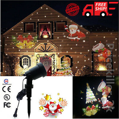 Christmas Snowflake Outdoor Landscape House Garden Moving Laser Projector Light