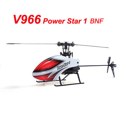 WLtoys V966 Power Star 1 6CH 6-Axis Gyro Flybarless RC Helicopter BNF