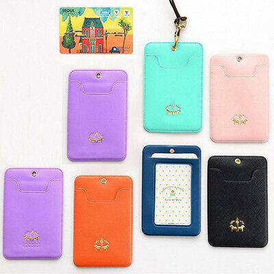 Useful Business Bus IC Credit Card Holder Alloy Buckle Case Bag Cover PO