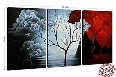 3 Panels Wall Decor Canvas Print Home Art Framed Abstract Painting Landscape