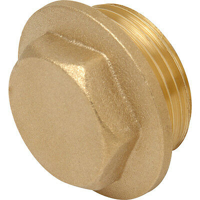 "Brass Flanged Plug BSP Thread 1/8"" up to 4"" Available"