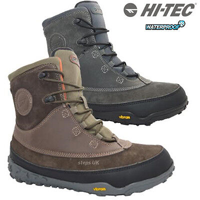 Mens Leather Hi Tec Waterproof Snow Boots Norse 200 I Thermal Ski Trainers Shoes