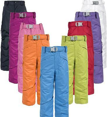 Trespass Marvelous Kids Ski Pants Salopettes Girls Boys Waterproof Insulated