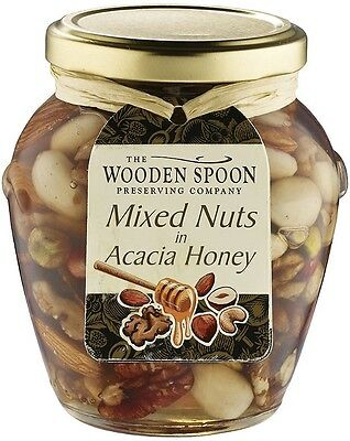 Delicious Breakfast Wooden Spoon Mixed Nuts in Acacia Honey Christmas Food Gifts