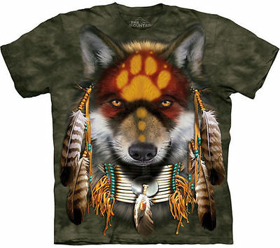 NATIVE AMERICAN INDIAN WOLF WOLVES T Shirt The Mountain Wolf Spirit Tee S-5XL