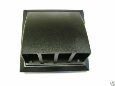 100Mm Black Ventilation Wall Grille Vent Cowl For Extractor Fans