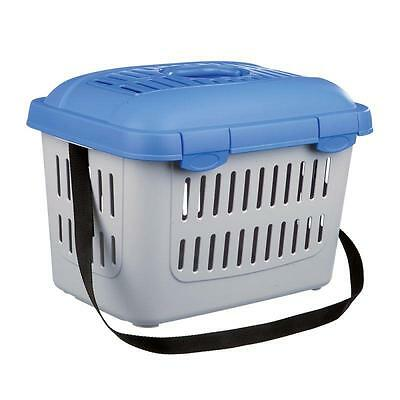 Pet Transport Box SMALL Cat Dog Travel Plastic Case Bag HANDLE Shoulder STRAP
