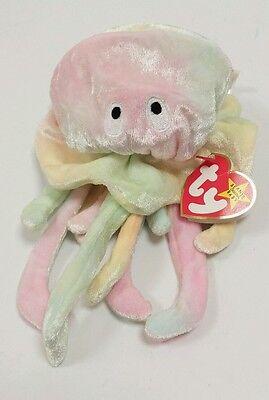 7c13b60ee8a Ty Beanie Baby Retired Goochy The Jellyfish Tag Errors Plush Animal Bean Bag