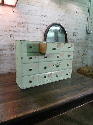 French 19th Century Apothecary Antique Drawers Haberdashery Vintage Cabinet