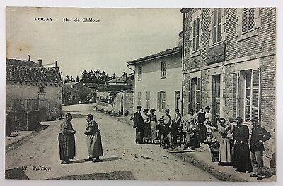 Ancienne Cpa 51 Pogny Rue De Chalons