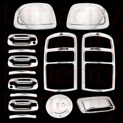 Tailgate Cover w// PSG Keyhole 95-00 Chevy Tahoe Chrome 4 Door Handle Covers