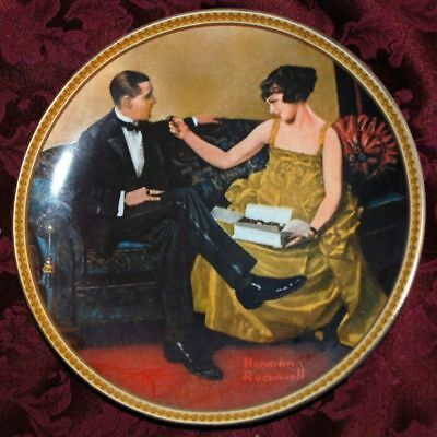 Flirting in the Parlor, KNOWLES Collector PLATE by Norman Rockwell, LOVE P70 yy