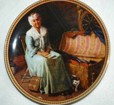 KNOWLES Collector PLATE - Reminiscing in the Quiet - Rockwell P24 yy