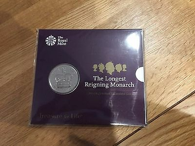 The Longest Reigning Monarch 2015 UK £5 Brilliant Uncirculated Coin Royal Mint