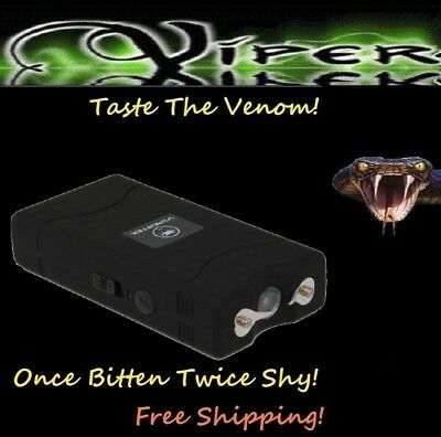 ViperTek Stun Gun Black 10 Trillion Volt Self Defense flashlight + Holster